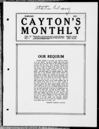 Thumbnail for the Feb. 1, 1921 edition of the Cayton's Monthly