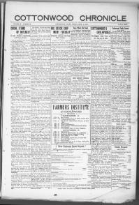 Thumbnail for the Sept. 21, 1917 edition of the Cottonwood Chronicle