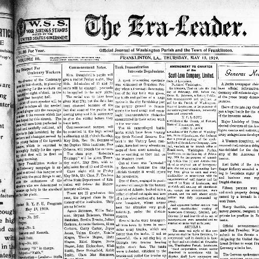 The Era-leader  (Franklinton, La ) 1910-current, May 15