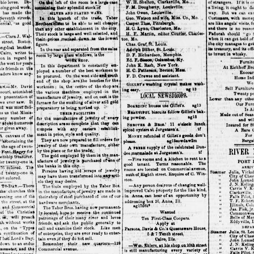 The Cairo daily bulletin  (Cairo, Ill ) 1870-1872, August 20