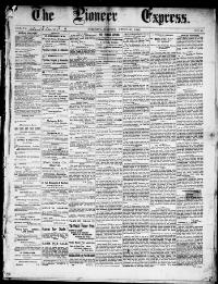 Thumbnail for the Apr. 20, 1883 edition of the The Pioneer Express