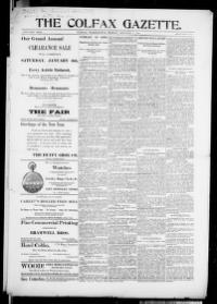 Thumbnail for the Jan. 5, 1900 edition of the The Colfax Gazette