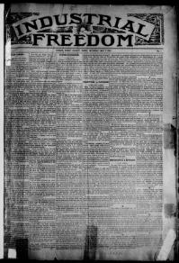Thumbnail for the May7, 1898 edition of the Industrial Freedom