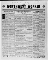 Thumbnail for the Jul. 1, 1915 edition of the The Northwest Worker