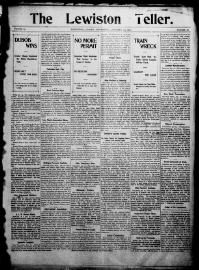 Thumbnail for the Jan. 17, 1901 edition of the The Lewiston Teller