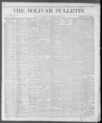 Thumbnail for the Nov. 30, 1888 edition of the The Bolivar Bulletin
