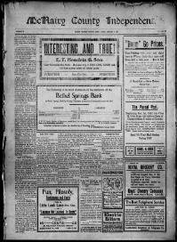 Thumbnail for the Jan. 3, 1913 edition of the McNairy County Independent