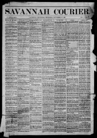 Thumbnail for the Sept. 17, 1885 edition of the Savannah Courier