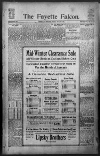Thumbnail for the Jan.8, 1915 edition of the The Fayette Falcon