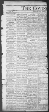 Thumbnail for the Dec. 14, 1888 edition of the The Covington Leader
