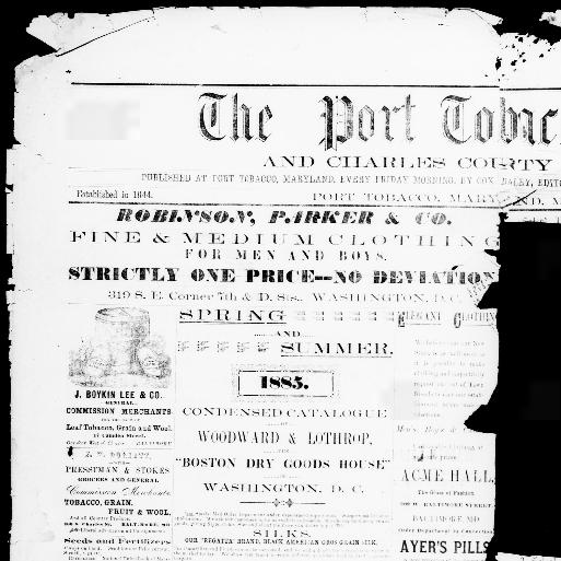 Port Tobacco times, and Charles County advertiser  (Port
