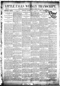 Thumbnail for the May 4, 1894 edition of the Little Falls Weekly Transcript