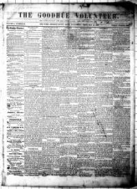 Thumbnail for the Feb. 19, 1862 edition of the The Goodhue Volunteer