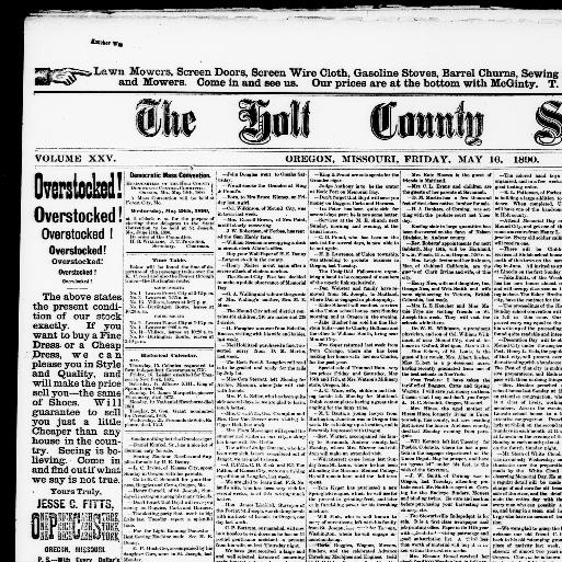 The Holt County sentinel  (Oregon, Mo ) 1883-1980, May 16, 1890