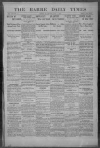 Thumbnail for the May 1, 1903 edition of the The Barre Daily Times