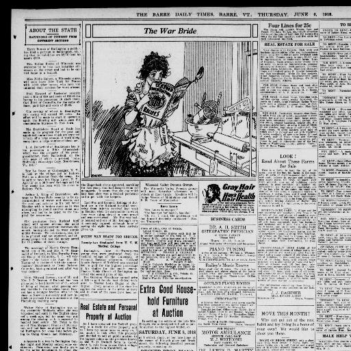 The Barre Daily Times June 06 1918 Page 7 Image About Vt 1897 1959