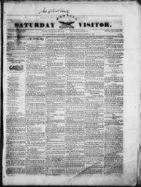 Thumbnail for the Jun. 10, 1848 edition of the Saturday Morning Visitor