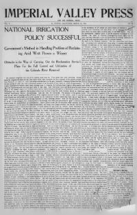 Thumbnail for the Mar. 24, 1906 edition of the Imperial Valley Press And The Imperial Press