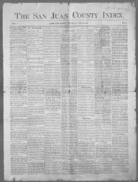 Thumbnail for the Jul.24, 1890 edition of the The San Juan County Index