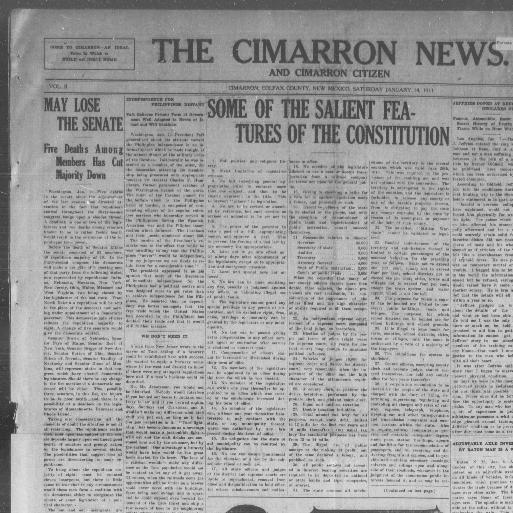 The Cimarron news and Cimarron citizen  (Cimarron, Colfax
