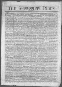 Thumbnail for the Jul.30, 1867 edition of the Mississippi Index