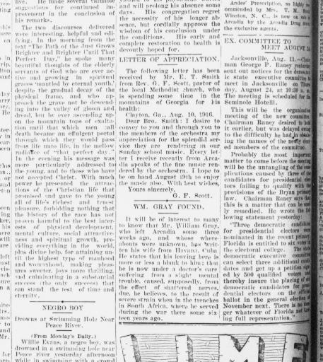 The De Soto County news  (Arcadia, Fla ) 1898-1924, August