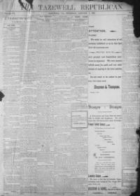 Thumbnail for the Jan. 7, 1897 edition of the Tazewell Republican