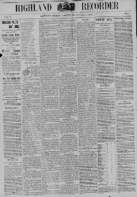 Thumbnail for the Jan. 13, 1893 edition of the Highland Recorder
