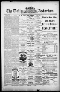Thumbnail for the Nov. 10, 1883 edition of the The Daily Morning Astorian