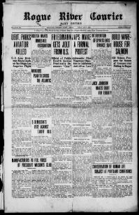 Thumbnail for the May 9, 1913 edition of the Rogue River Courier