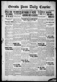 Thumbnail for the Jan. 2, 1919 edition of the Grants Pass Daily Courier