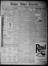 Thumbnail for the Sept. 27, 1900 edition of the Rogue River Courier