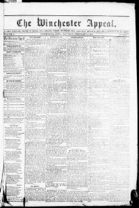 Thumbnail for the Feb. 16, 1856 edition of the The Winchester Appeal
