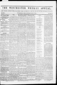 Thumbnail for the Jul. 5, 1856 edition of the The Winchester Weekly Appeal