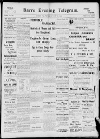 Thumbnail for the May 19, 1898 edition of the Barre Evening Telegram